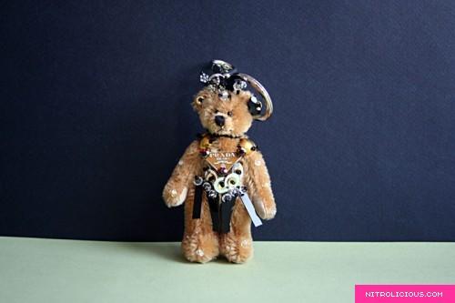 Prada Trick Quirino Teddy Bear Keychain - nitrolicious.com