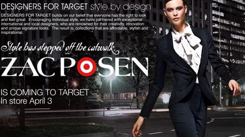 Zac Posen for Target AU – April 3rd