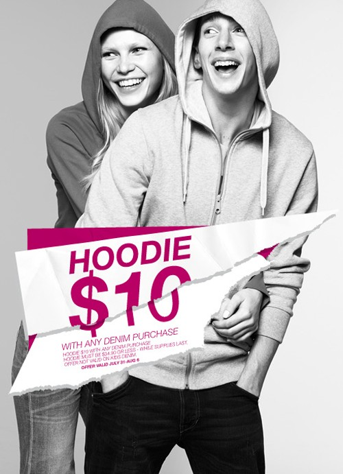 H&M Hoodie Event – $10 Hoodie with any Denim Purchase