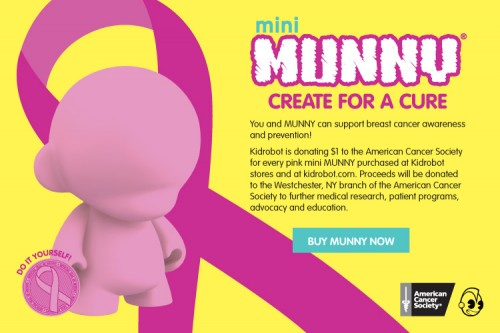 Kidrobot Pink Mini Munny for Breast Cancer Awareness Month!
