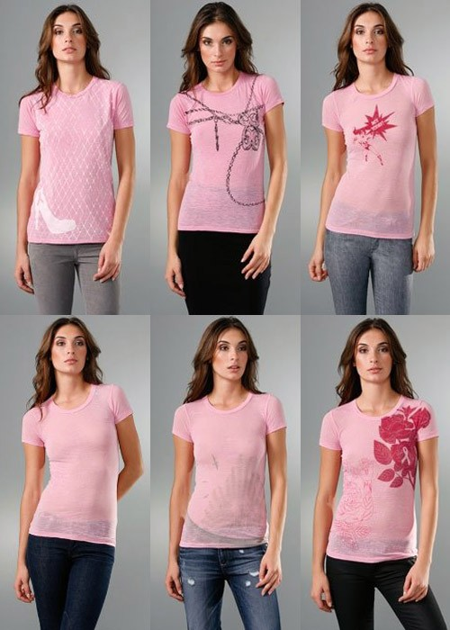 Shopbop Celebrity Breast Cancer Awareness Tees