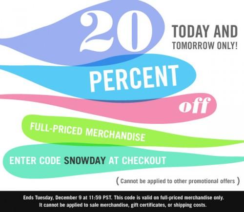 Shopbop – 20% Off Full-Priced Merchandise!