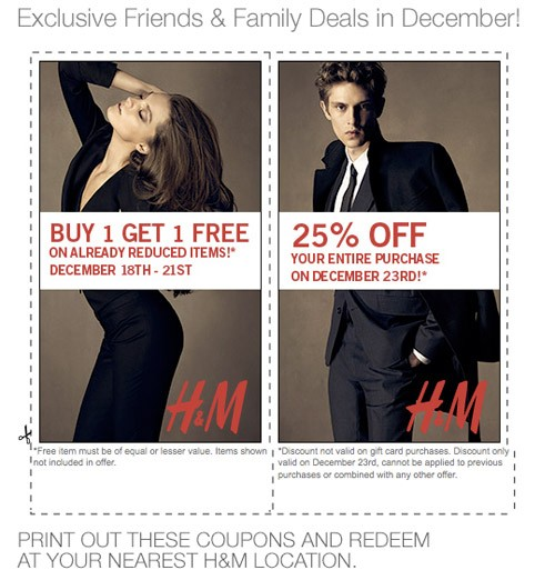 H&M Exclusive Friends & Family Offer!