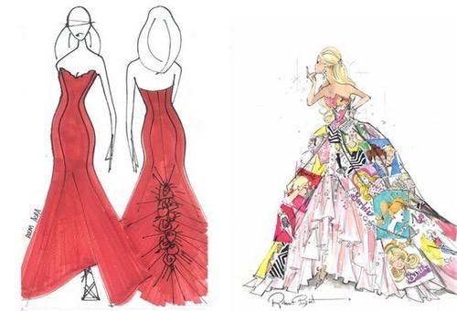 Barbie A Fashion Fairytale Dresses Sketches Sneak Peek: Barbie Fas...