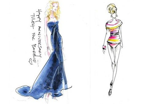 Sneak Peek Barbie Fashion Show Sketches