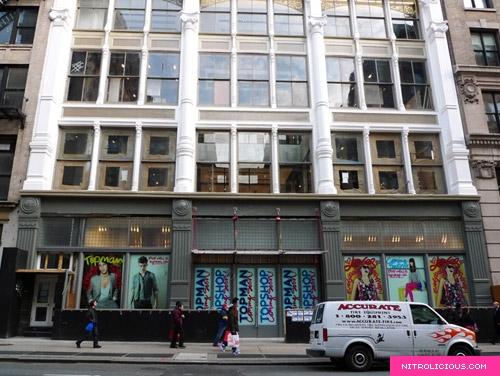 Topshop Soho Storefront – Update