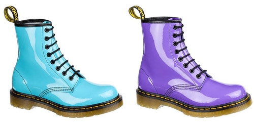 Dr. Martens 1460 8 Eye Boot Patent Lamper [Pastel Colors