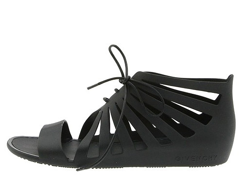 lace up jelly sandals