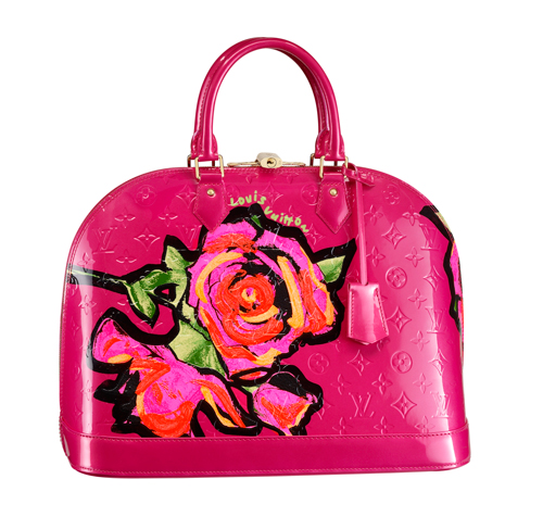 Louis Vuitton x Stephen Sprouse Monogram Vernis Roses Collection
