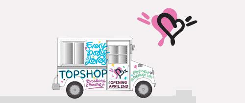 Topshop Heartschallenger Van Locations [April 1]