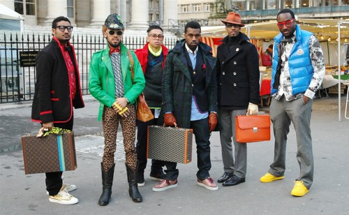 kanye-west-paris-fw09-entourage