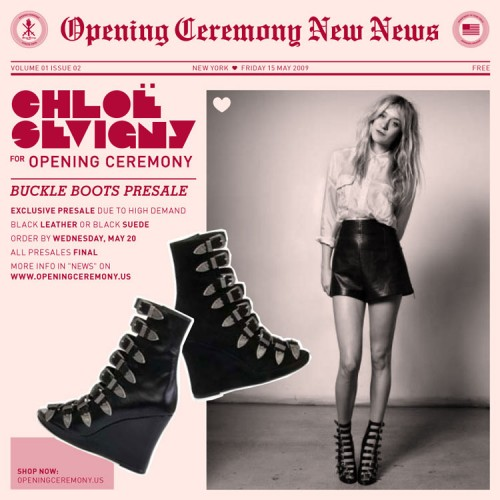 Chloe Sevigny for Opening Ceremony Buckle Boots [Pre-Sale]