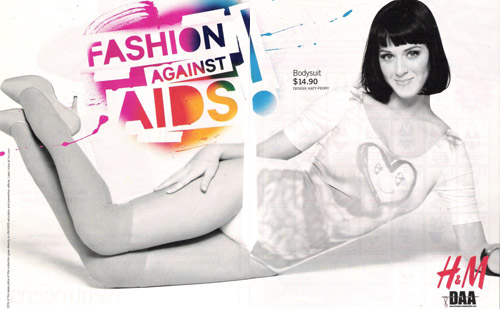 Katy Perry for H&M x Fashion Against AIDS Campaign