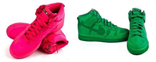 Nylon Magazine x Nike Dunk High Green & Pink Available