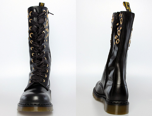 Dr Martens Johari 12 Tie Eyelet Zip Boot Nitrolicious Com