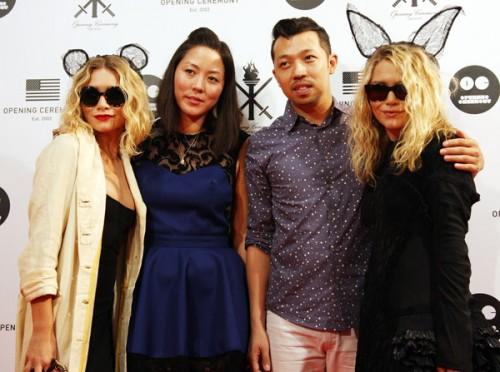 Style Stalker: Mary-Kate & Ashley Olsen @ Opening Ceremony ...