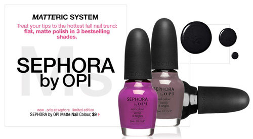 Sephora By OPI Matte Nail Colour Collection - nitrolicious.com