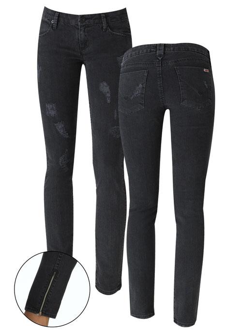 Black skinny jeans ankle zipper – Global fashion jeans models