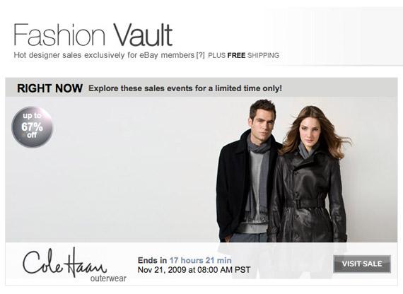 eBay Launches Fashion Vault
