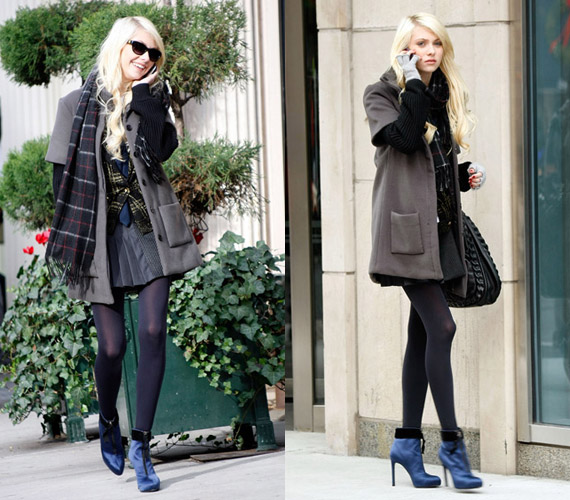 Gossip girl style taylor momsen on location december 2 Fashion style of gossip girl