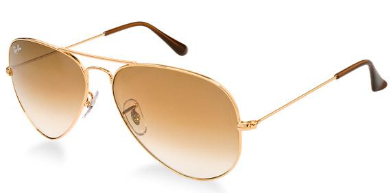 ray ban aviator sunglasses gold