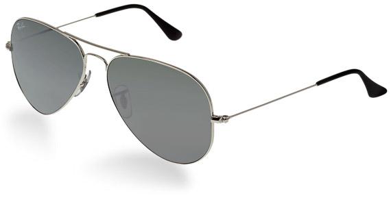 ray ban sunglasses aviator silver  ray ban aviator silver grey