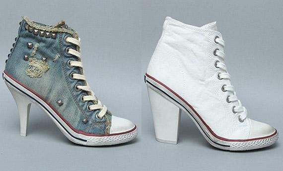 Ash High Top High Heeled Sneaker