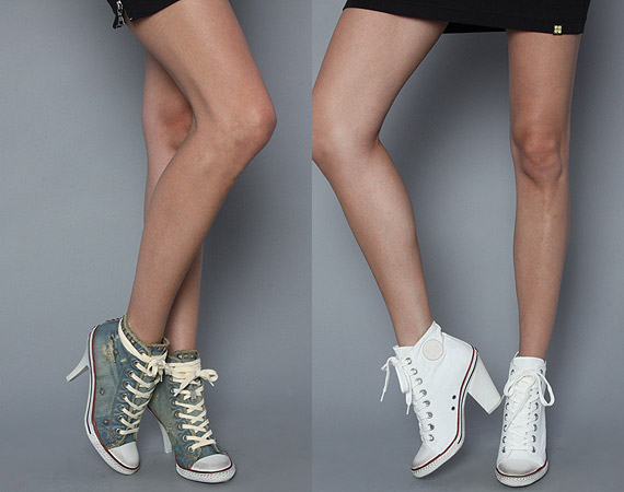 ash high top high heeled sneaker stones spot