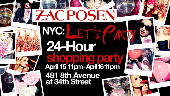 Zac Posen for Target NYC 24-Hour Shopping Party