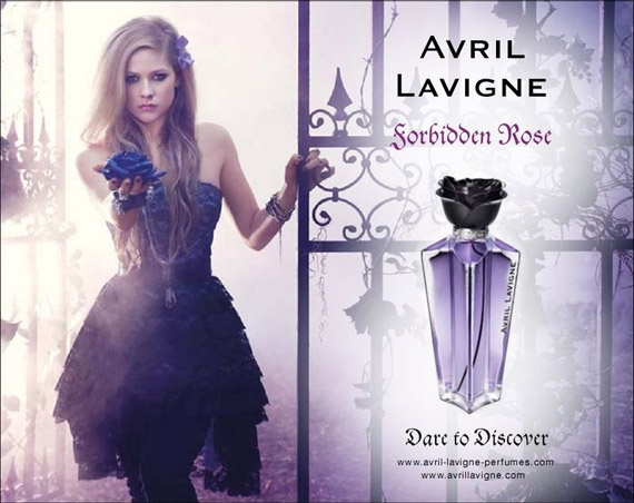"Avril Lavigne Debuts Her New ""Forbidden Rose"" Fragrance"