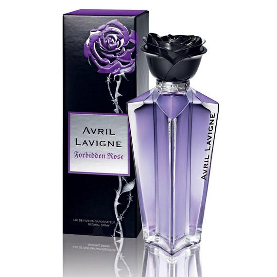 avril lavigne debuts her new forbidden rose fragrance. Black Bedroom Furniture Sets. Home Design Ideas