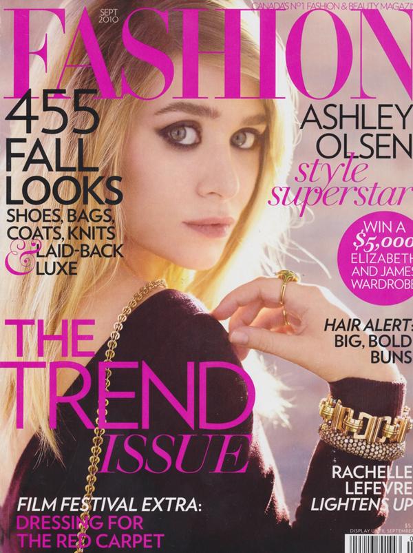 Ashley Olsen Covers Fashion Magazine September 2010
