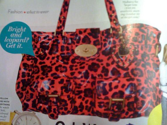 Mulberry for Target Pink Leopard Print Bag