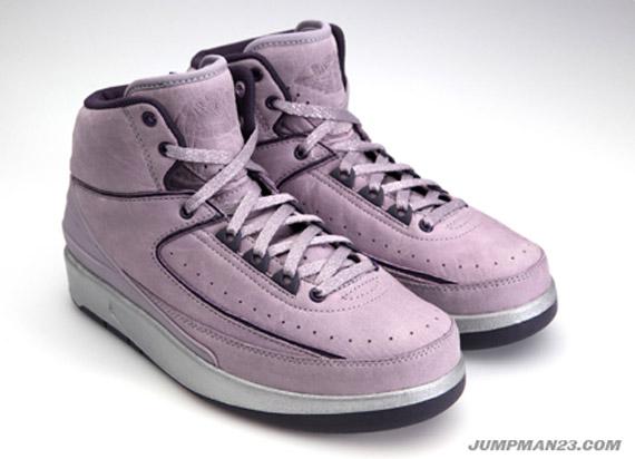 05957460fb49f4 Vashtie Kola x Air Jordan II (2) Retro – Lavender Deep Purple ...