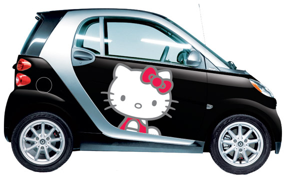 Sanrio & smart USA Launches First Hello Kitty Vehicle Wraps