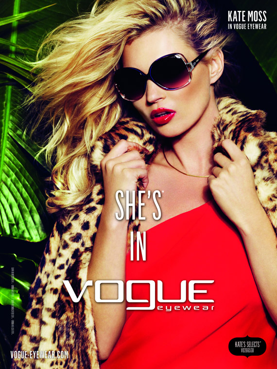 Kate Moss for Vogue Eyewear Spring/Summer 2011 Ad Campaign ...