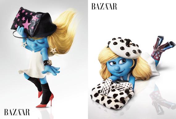 Smurfette for Harper's Bazaar