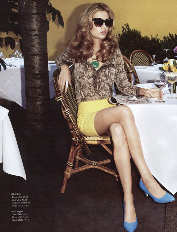 """H&M Magazine Spring 2012 """"Ready Steady Gold"""" ft Abbey Lee ..."""