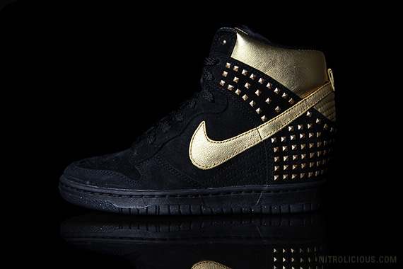 gold stud nike dunk high at ebay