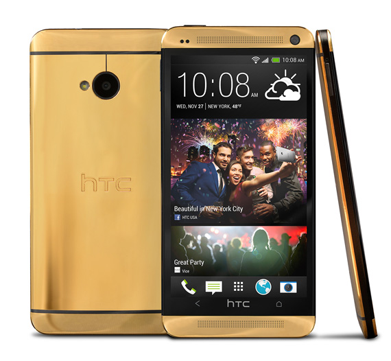24k Gold HTC One