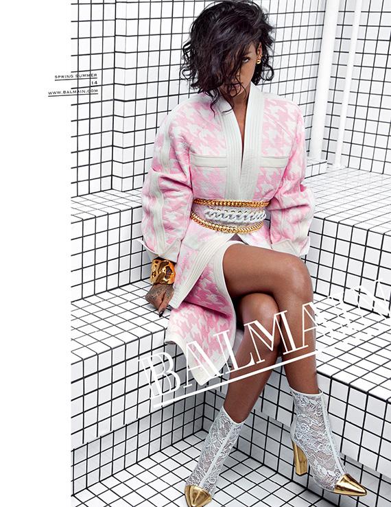 Rihanna for Balmain Spring/Summer 2014 Ad Campaign