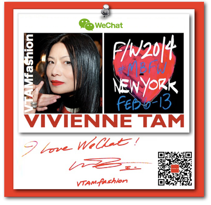 Vivienne Tam x WeChat for Mercedes Benz Fashion Week Fall 2014