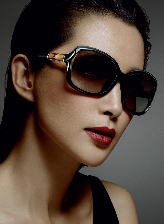 Li Bingbing For Gucci Bamboo Eyewear Campaign