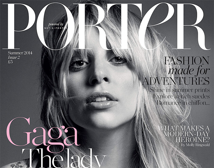 Lady Gaga Covers Porter Magazine