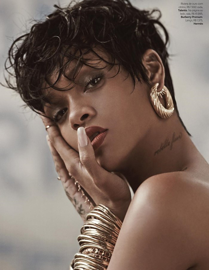 Rihanna Post: On the set of her Vogue Brazil photo shoot