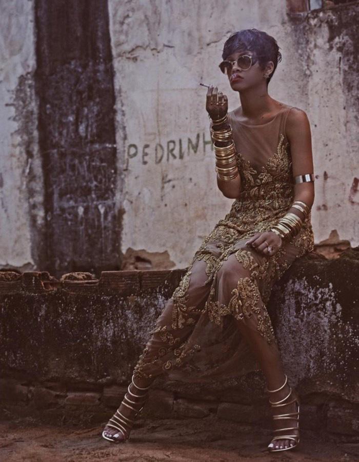 Rihanna for Vogue Brazil by Mariano Vivanco - nitrolicious.com