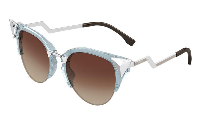 da35e48d2186e Fendi Iridia Cat-eye Crystal-tip Sunglasses