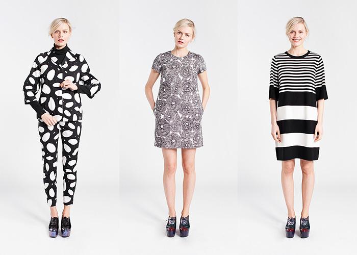 Marimekko Fall 2014 Graphic Black & White Lookbook