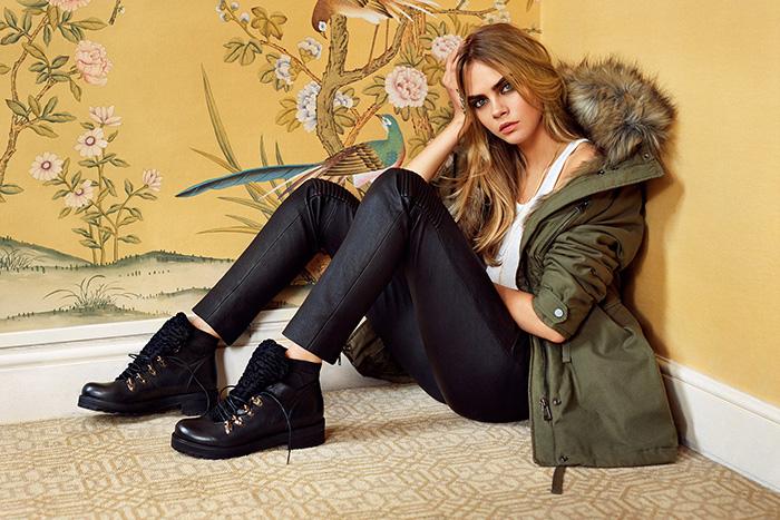 Cara Delevingne for Topshop Autumn/Winter 2014 Campaign