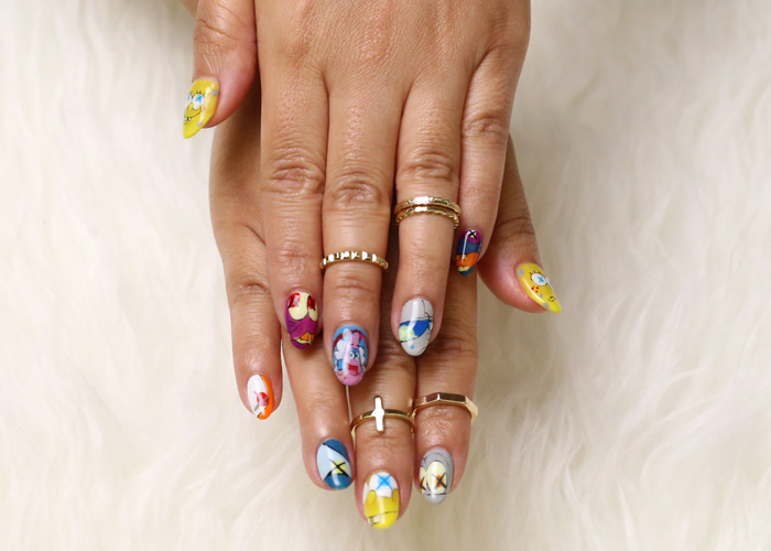KAWS + SpongeBob 'KAWSBob' Inspired Nail Art